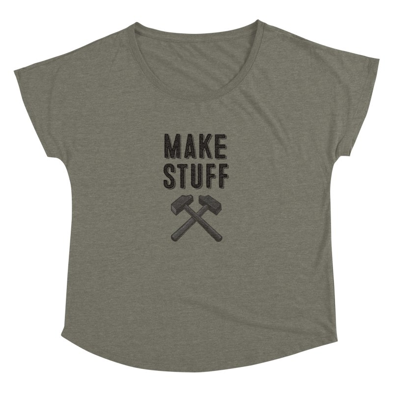 Maker's Credo: Grey Women's Dolman by The Factorie's Artist Shop