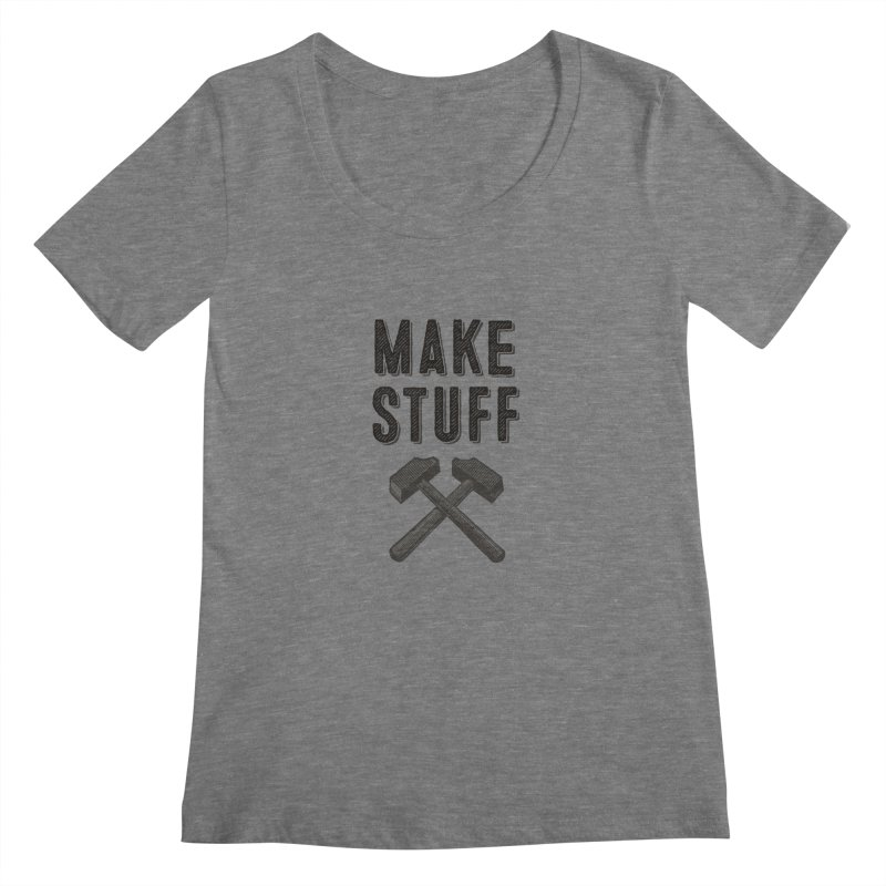 Make Stuff - Grey Women's Scoopneck by The Factorie's Artist Shop