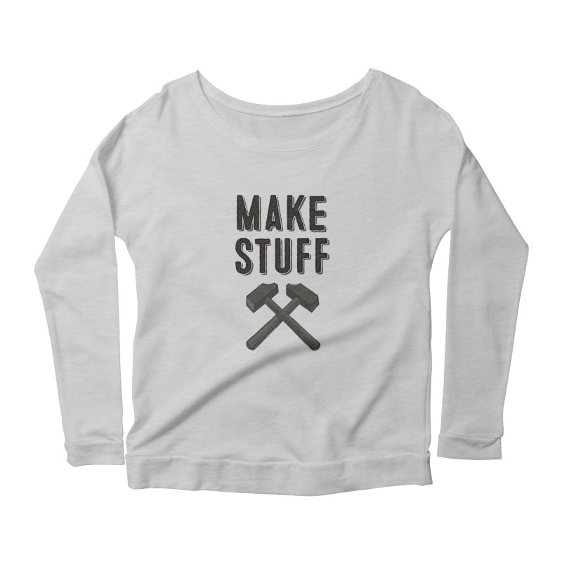 Maker's Credo: Grey Women's Scoop Neck Longsleeve T-Shirt by The Factorie's Artist Shop