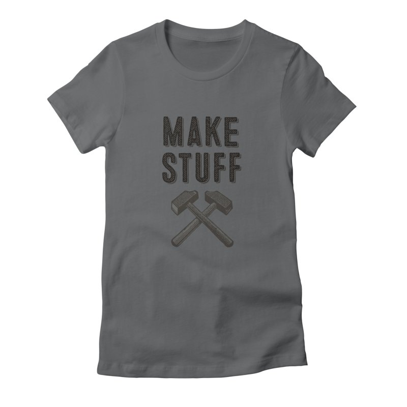 Maker's Credo: Grey Women's Fitted T-Shirt by The Factorie's Artist Shop