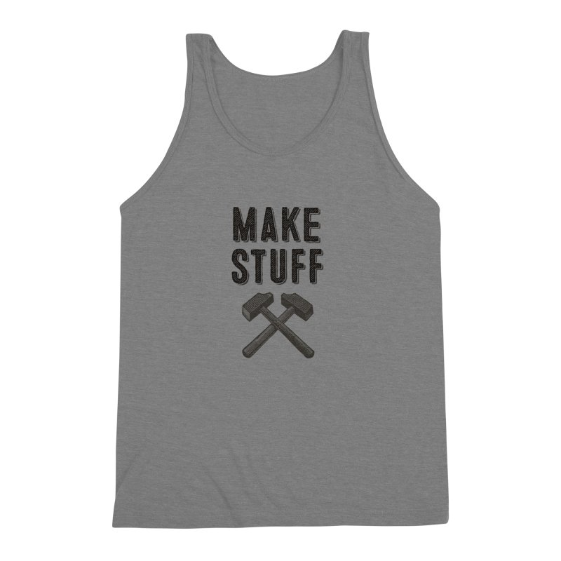 Maker's Credo: Grey Men's Triblend Tank by The Factorie's Artist Shop