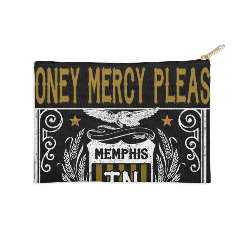 Honey Mercy Please Banner Accessories Zip Pouch by The Fast Mothers