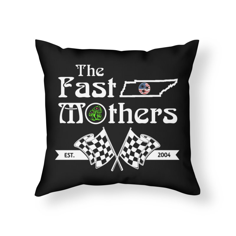 Est. 2004 for Dark Colors Home Throw Pillow by The Fast Mothers