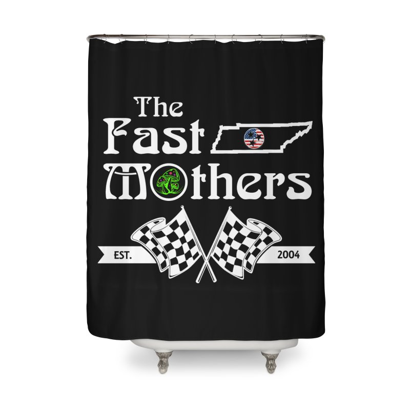 Est. 2004 for Dark Colors Home Shower Curtain by The Fast Mothers