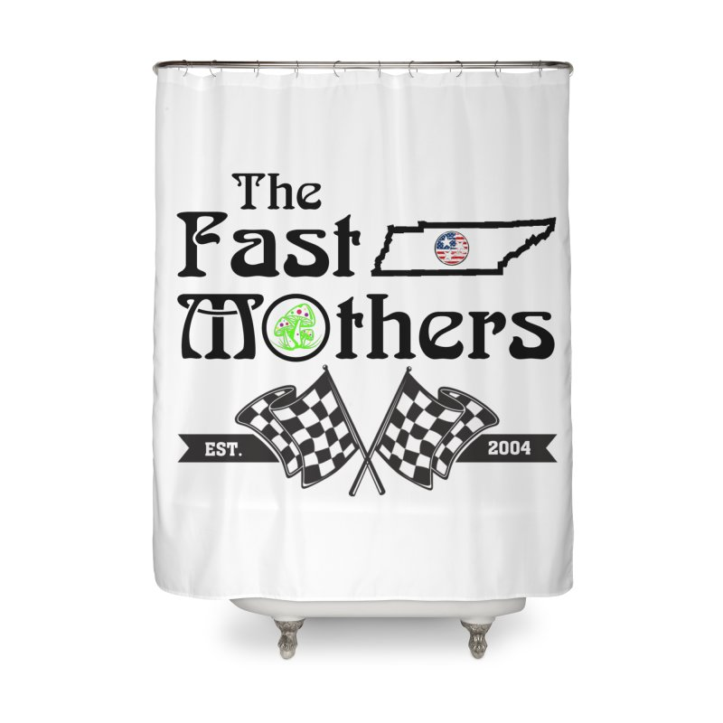 Est. 2004 for Light colors Home Shower Curtain by The Fast Mothers