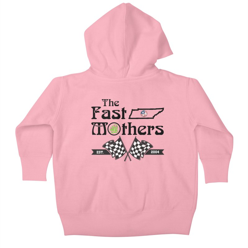 Est. 2004 for Light colors Kids Baby Zip-Up Hoody by The Fast Mothers