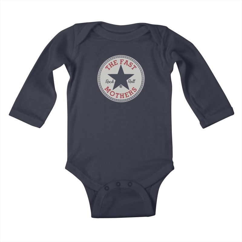 Sneaker Logo Kids Baby Longsleeve Bodysuit by The Fast Mothers