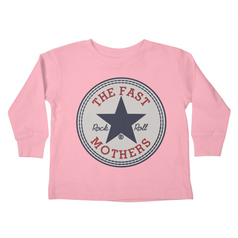 Sneaker Logo Kids Toddler Longsleeve T-Shirt by The Fast Mothers