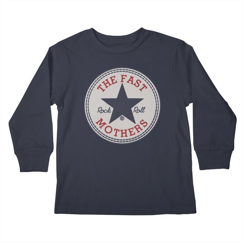 Sneaker Logo Kids Longsleeve T-Shirt by The Fast Mothers