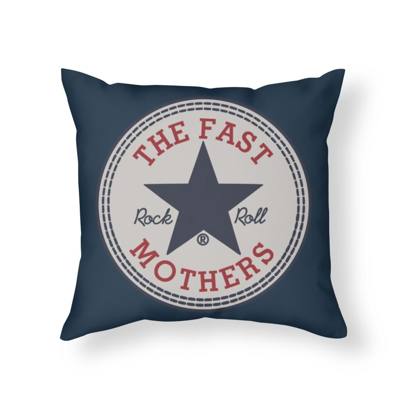 Sneaker Logo Home Throw Pillow by The Fast Mothers