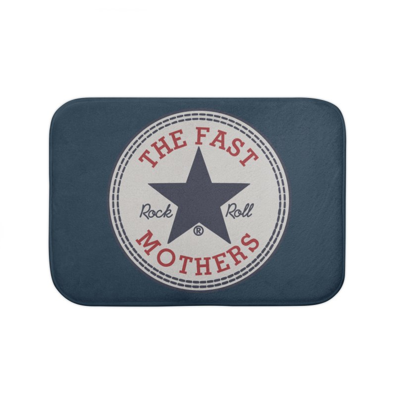 Sneaker Logo Home Bath Mat by The Fast Mothers