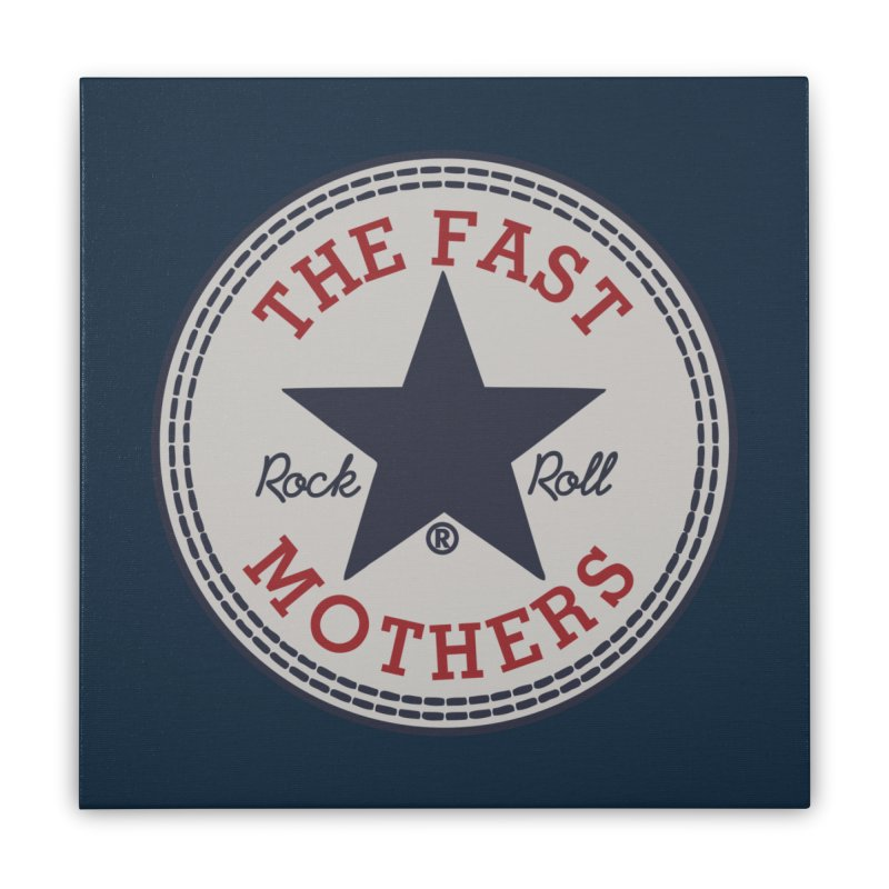 Sneaker Logo Home Stretched Canvas by The Fast Mothers