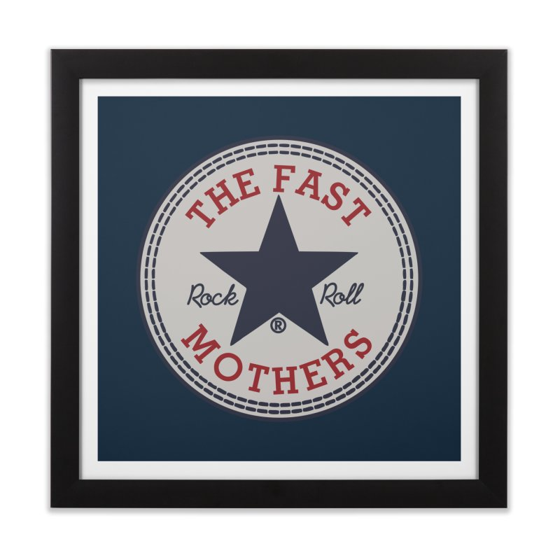 Sneaker Logo Home Framed Fine Art Print by The Fast Mothers