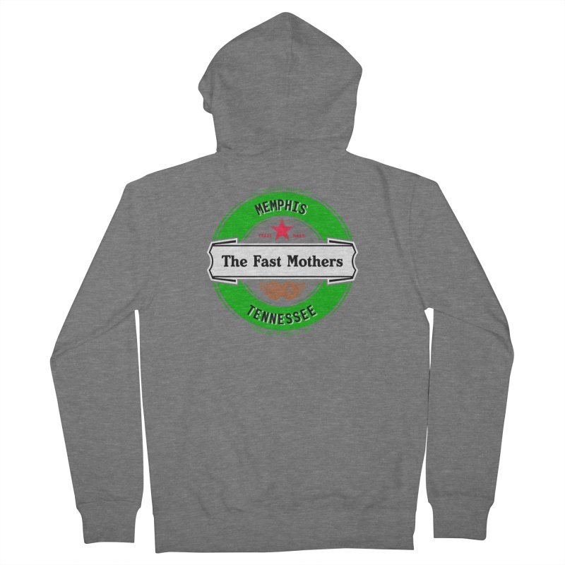 Beer Logo (white banner) Men's Zip-Up Hoody by The Fast Mothers