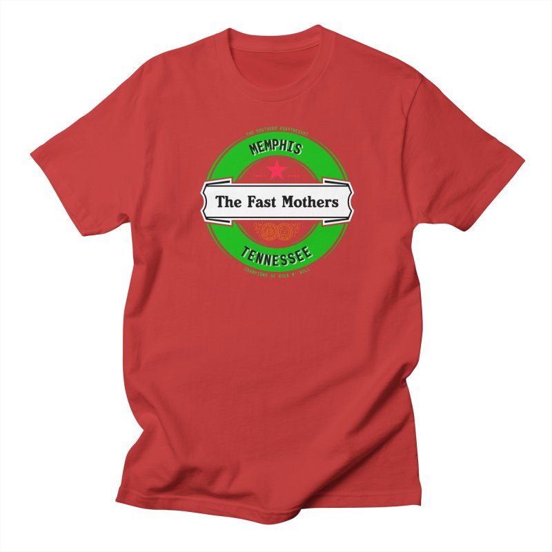 Beer Logo (white banner) Men's T-Shirt by The Fast Mothers