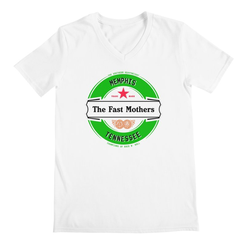 Beer Logo (white banner) Men's V-Neck by The Fast Mothers