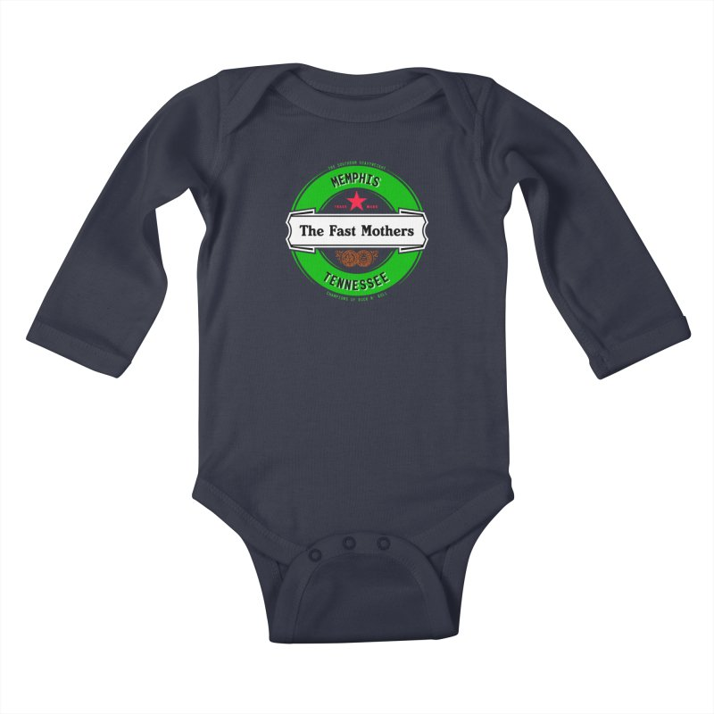 Beer Logo (white banner) Kids Baby Longsleeve Bodysuit by The Fast Mothers