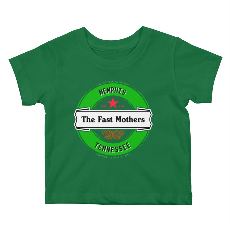 Beer Logo (white banner) Kids Baby T-Shirt by The Fast Mothers