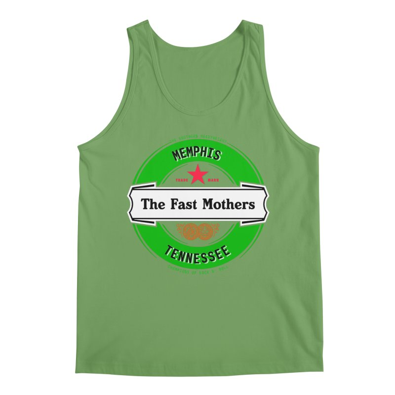 Beer Logo (white banner) Men's Tank by The Fast Mothers