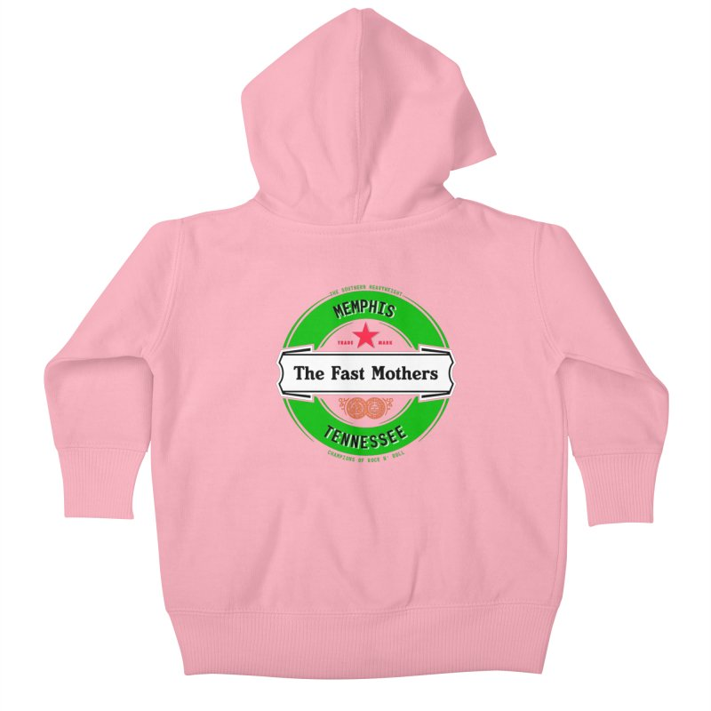 Beer Logo (white banner) Kids Baby Zip-Up Hoody by The Fast Mothers