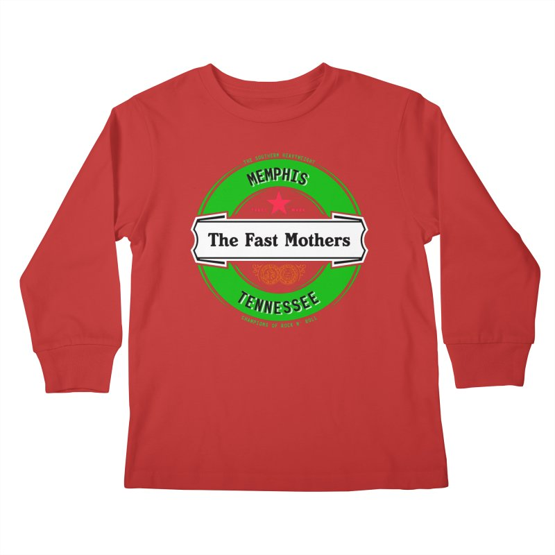 Beer Logo (white banner) Kids Longsleeve T-Shirt by The Fast Mothers