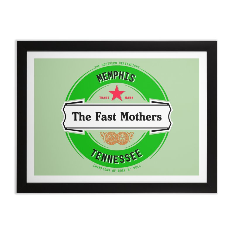 Beer Logo (white banner) Home Framed Fine Art Print by The Fast Mothers