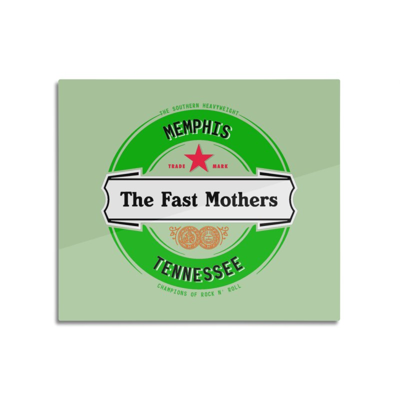 Beer Logo (white banner) Home Mounted Aluminum Print by The Fast Mothers