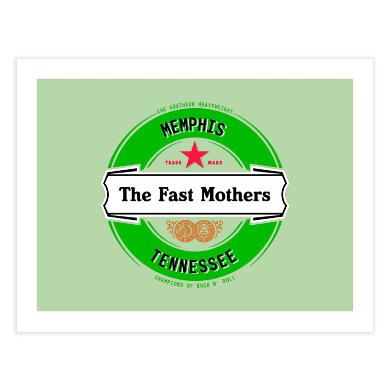 Beer Logo (white banner) Home Fine Art Print by The Fast Mothers