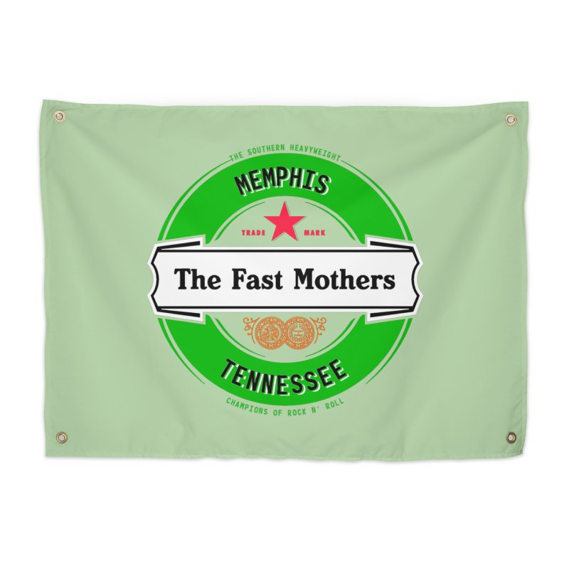Beer Logo (white banner) Home Tapestry by The Fast Mothers