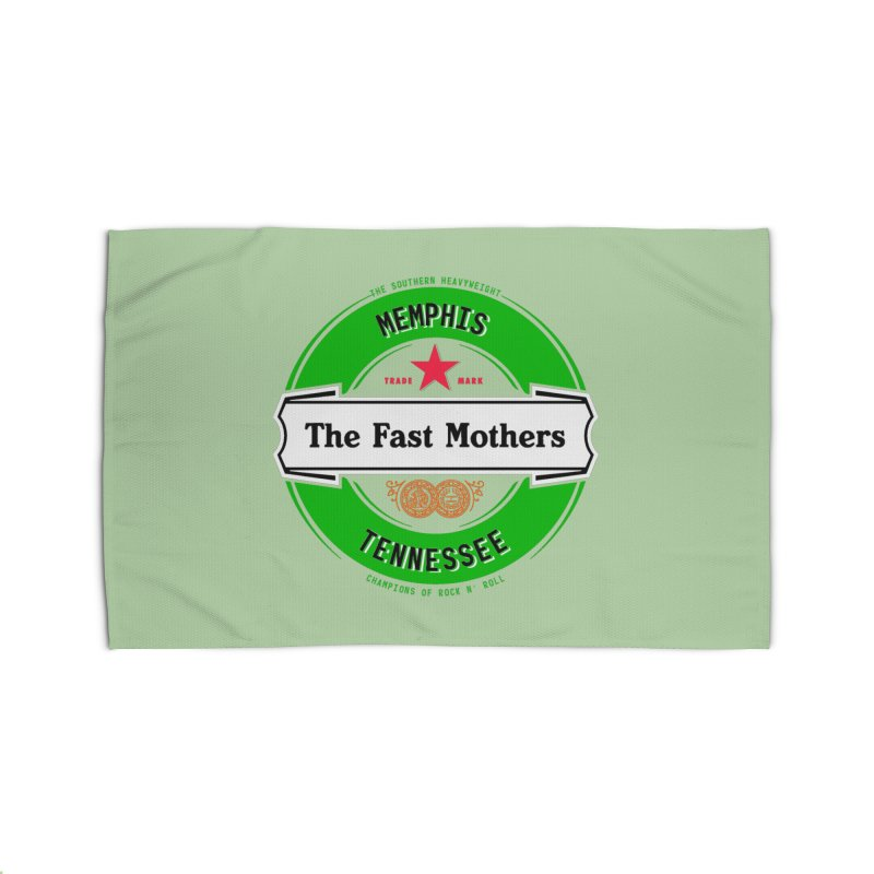 Beer Logo (white banner) Home Rug by The Fast Mothers