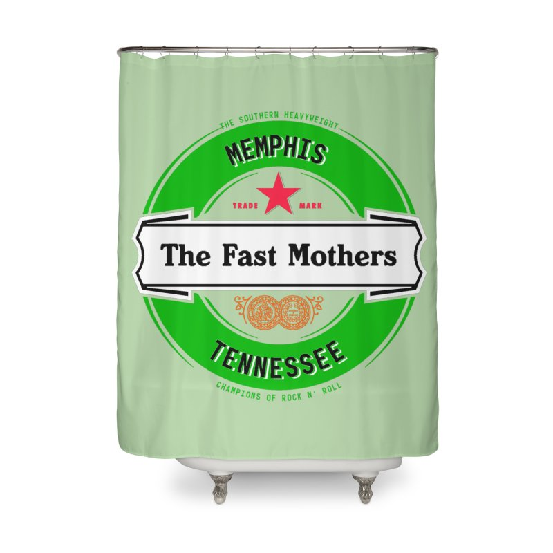 Beer Logo (white banner) Home Shower Curtain by The Fast Mothers