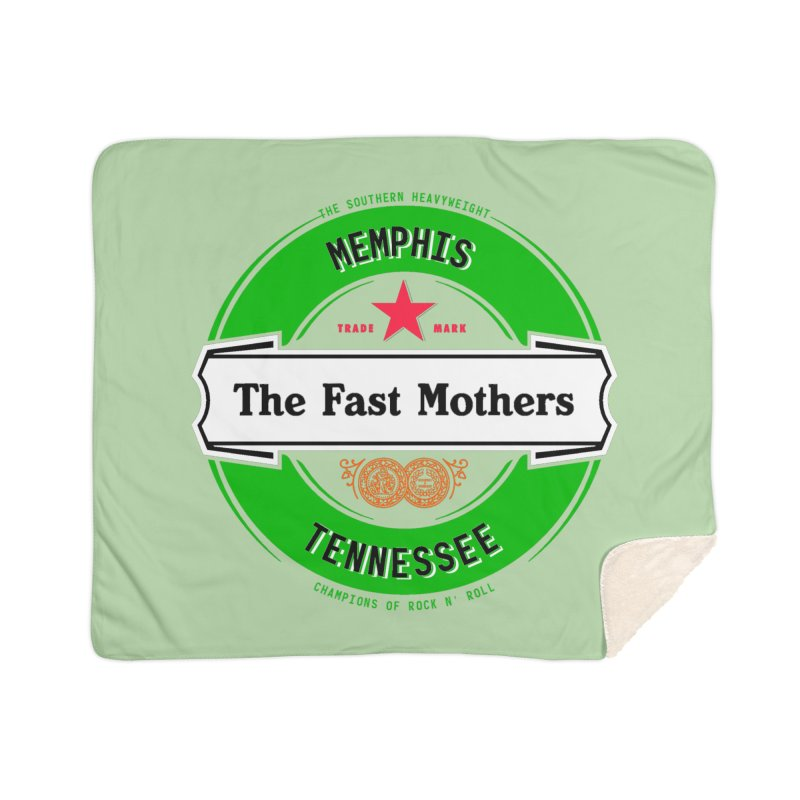 Beer Logo (white banner) Home Blanket by The Fast Mothers