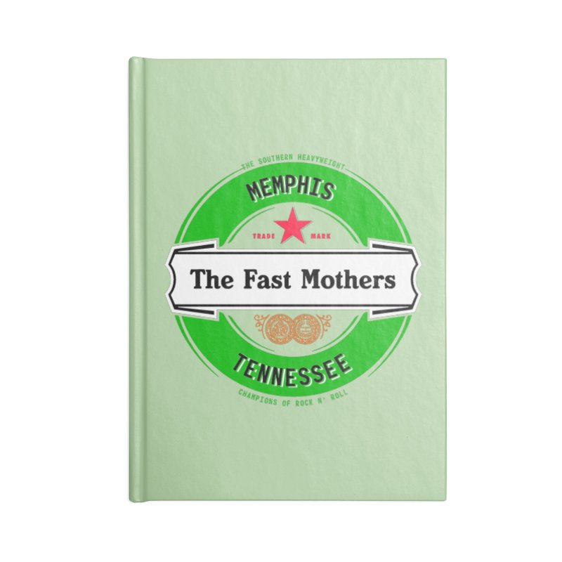 Beer Logo (white banner) Accessories Notebook by The Fast Mothers