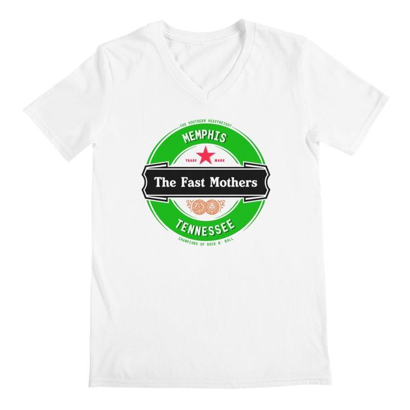 Beer Logo (black banner) Men's V-Neck by The Fast Mothers
