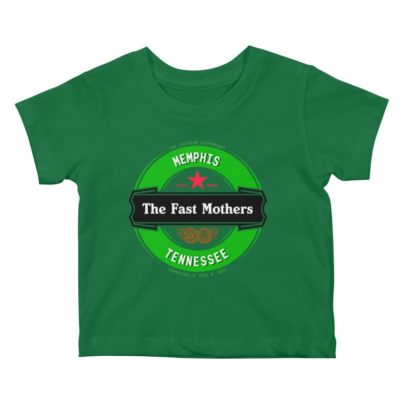 Beer Logo (black banner) Kids Baby T-Shirt by The Fast Mothers