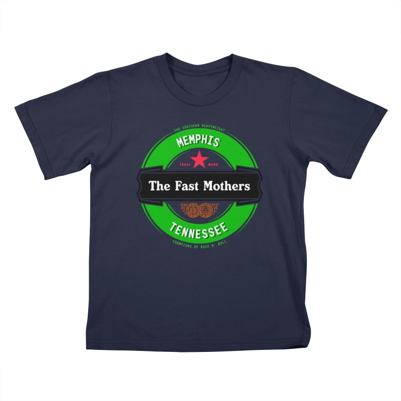 Beer Logo (black banner) Kids T-Shirt by The Fast Mothers