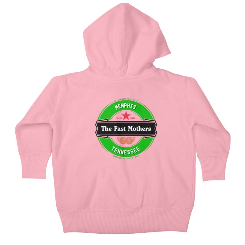 Beer Logo (black banner) Kids Baby Zip-Up Hoody by The Fast Mothers