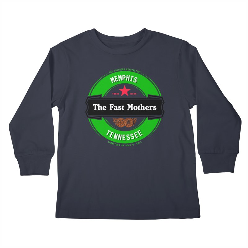 Beer Logo (black banner) Kids Longsleeve T-Shirt by The Fast Mothers