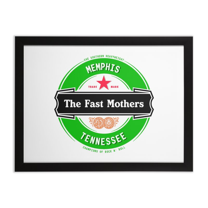 Beer Logo (black banner) Home Framed Fine Art Print by The Fast Mothers