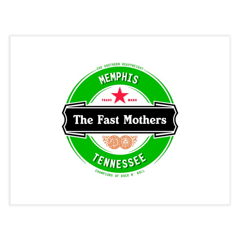 Beer Logo (black banner) Home Fine Art Print by The Fast Mothers