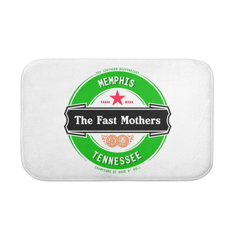 Beer Logo (black banner) Home Bath Mat by The Fast Mothers