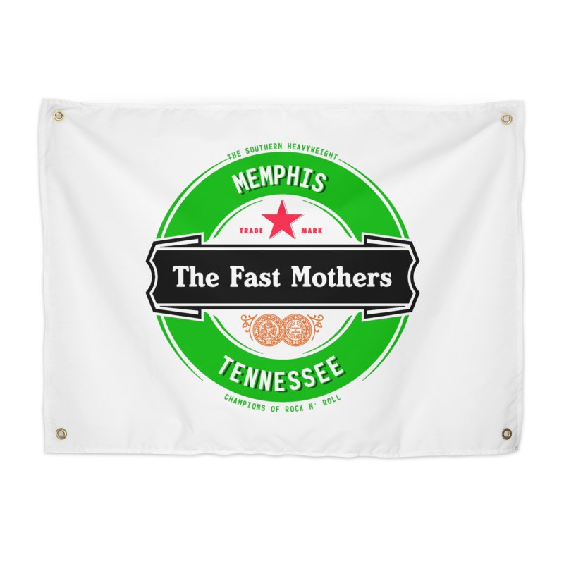 Beer Logo (black banner) Home Tapestry by The Fast Mothers
