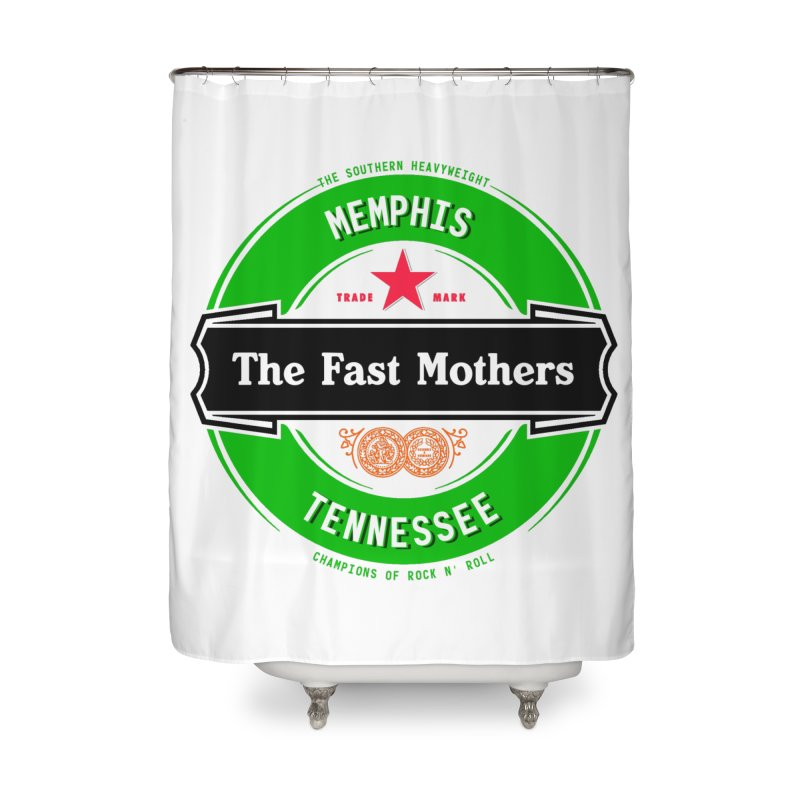 Beer Logo (black banner) Home Shower Curtain by The Fast Mothers