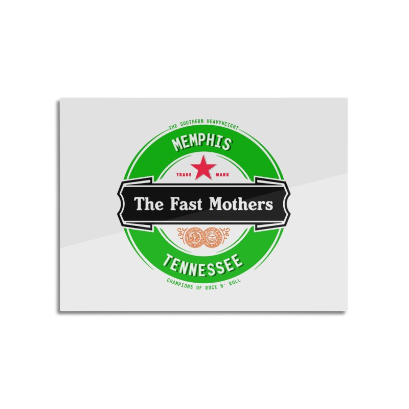 Beer Logo (black banner) Home Mounted Aluminum Print by The Fast Mothers