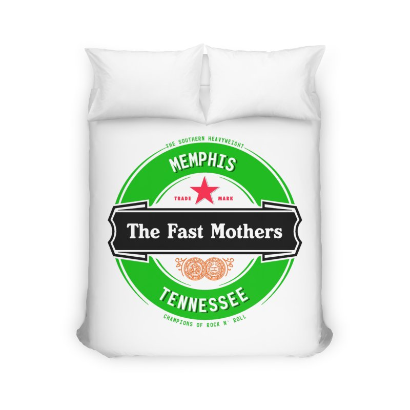 Beer Logo (black banner) Home Duvet by The Fast Mothers
