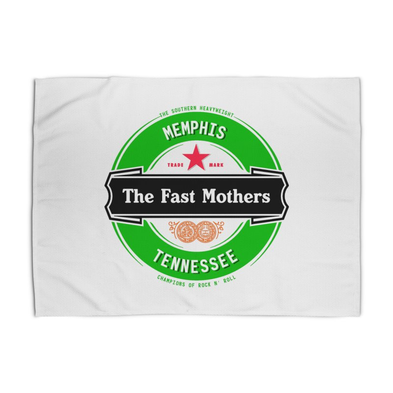 Beer Logo (black banner) Home Rug by The Fast Mothers