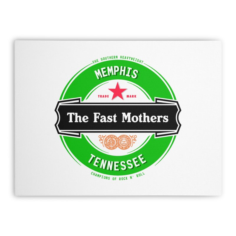Beer Logo (black banner) Home Stretched Canvas by The Fast Mothers