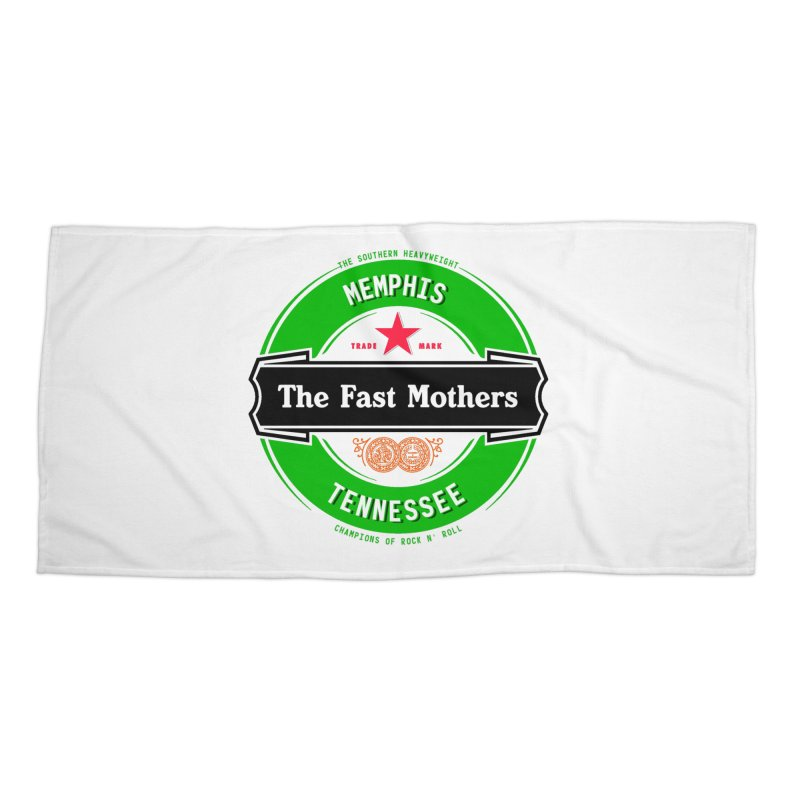 Beer Logo (black banner) Accessories Beach Towel by The Fast Mothers