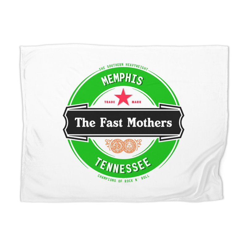 Beer Logo (black banner) Home Blanket by The Fast Mothers