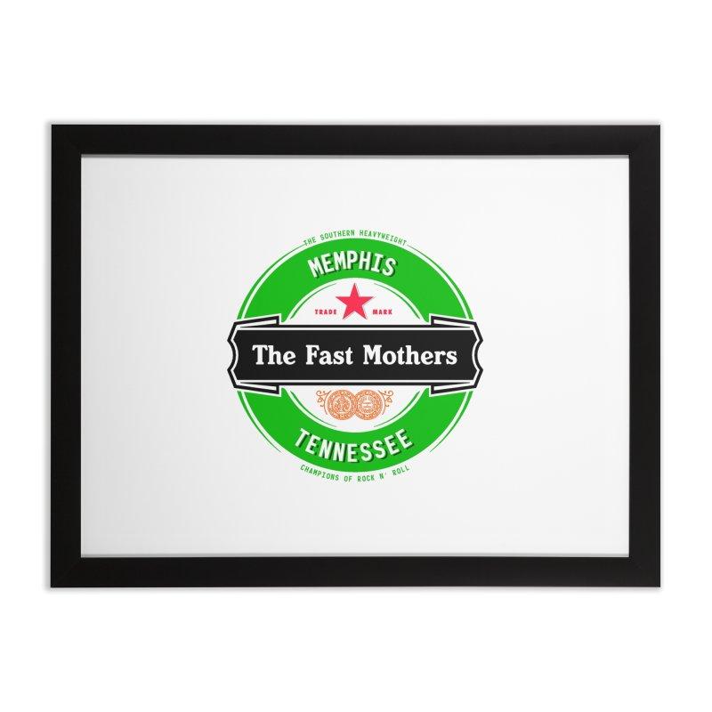 Beer Logo (black banner) Home Framed Fine Art Print by The Fast Mothers